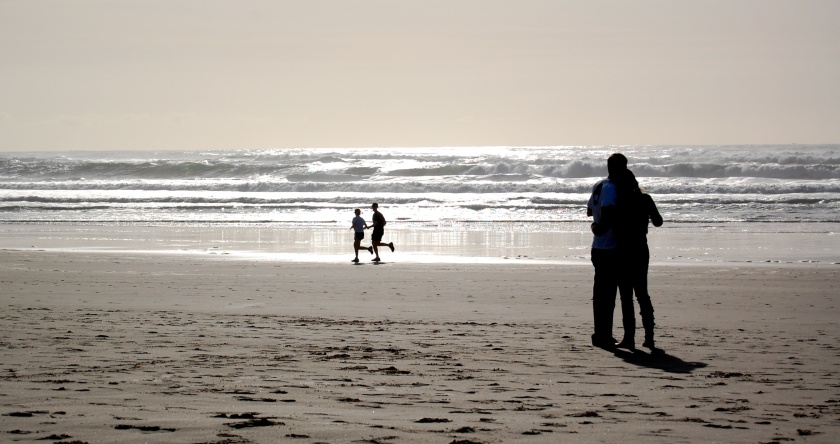 Beach Couples Silhouettes