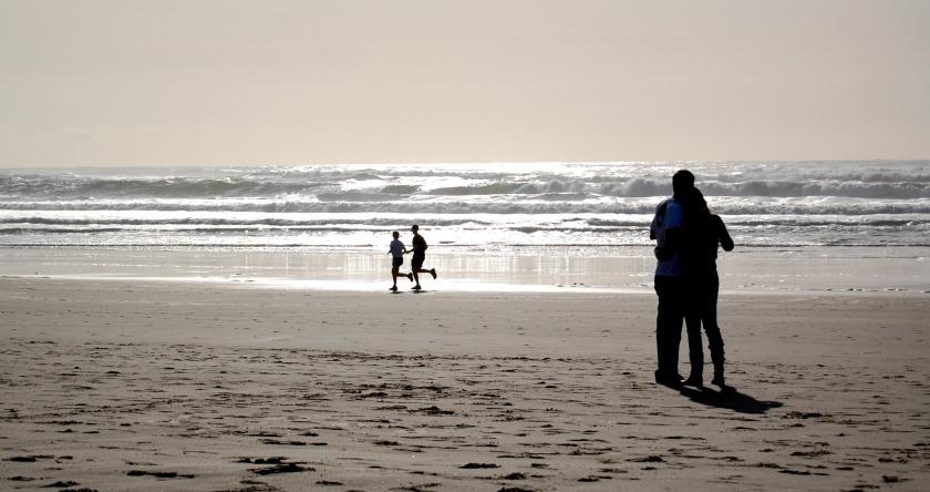 Beach Couples Silhouettes