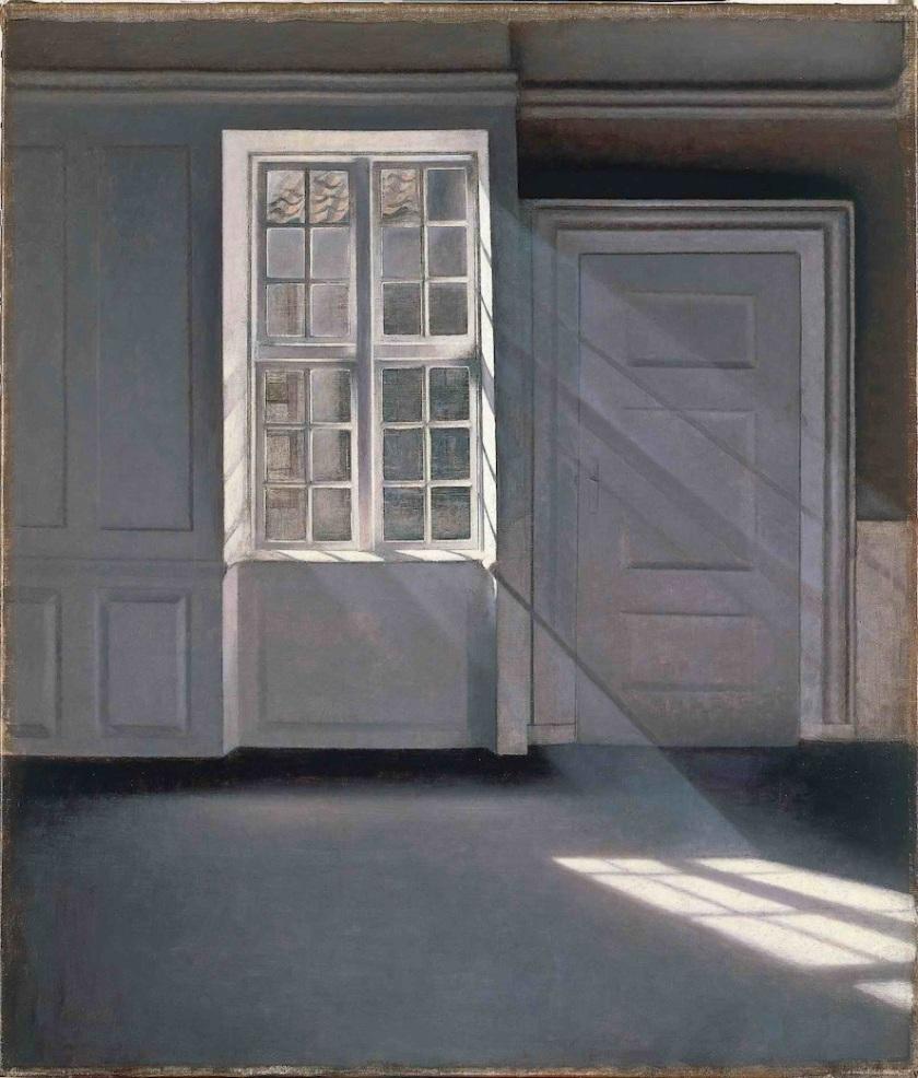 Dust Motes Dancing in the Sunbeams«, 1900 by Vilhelm Hammershøi.