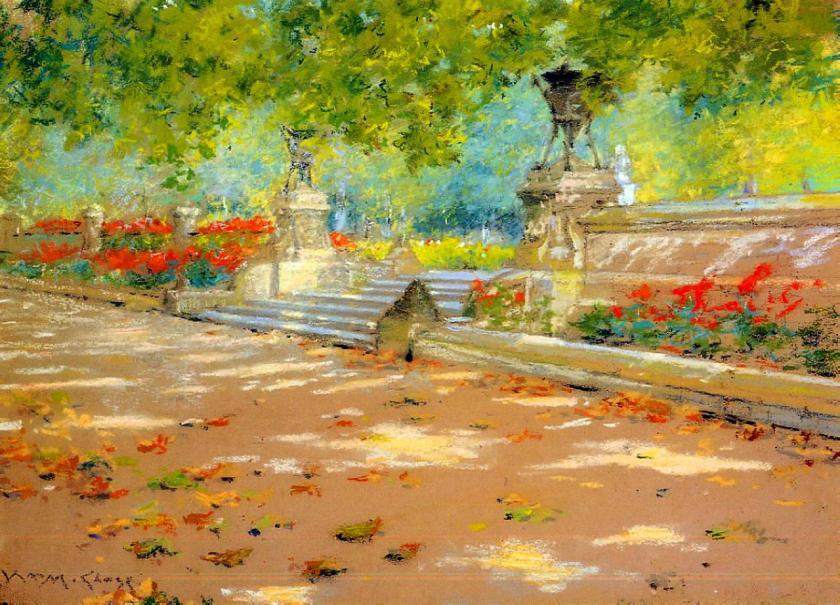 """""""Terrace, Prospect Park"""" by William Merritt Chase"""