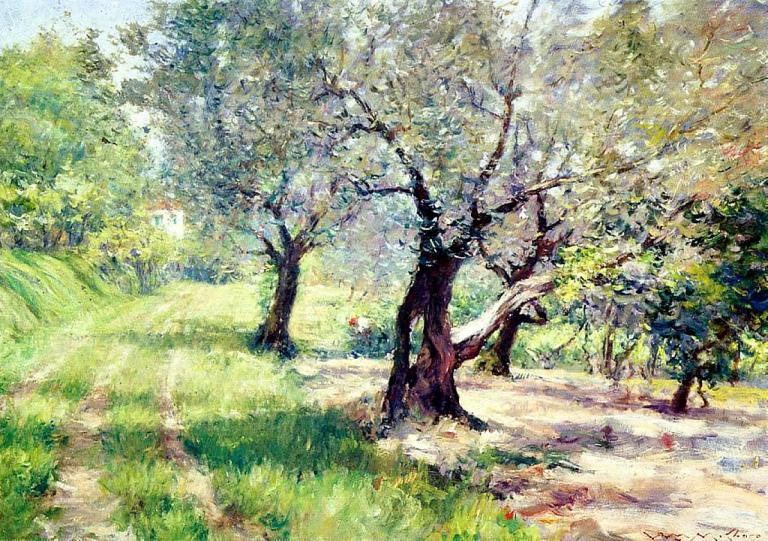 """""""The Olive Grove"""" by William Merritt Chase"""