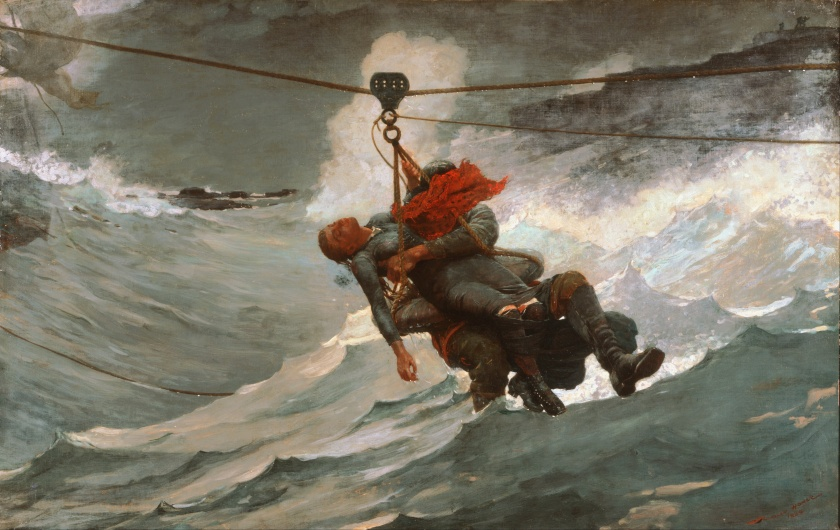 """The Life-Line"" - Winslow Homer"