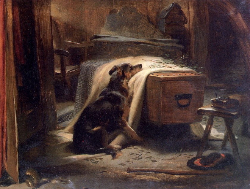"""Old Shepherd's Chief Mourner"" -by  Edwin Landseer"
