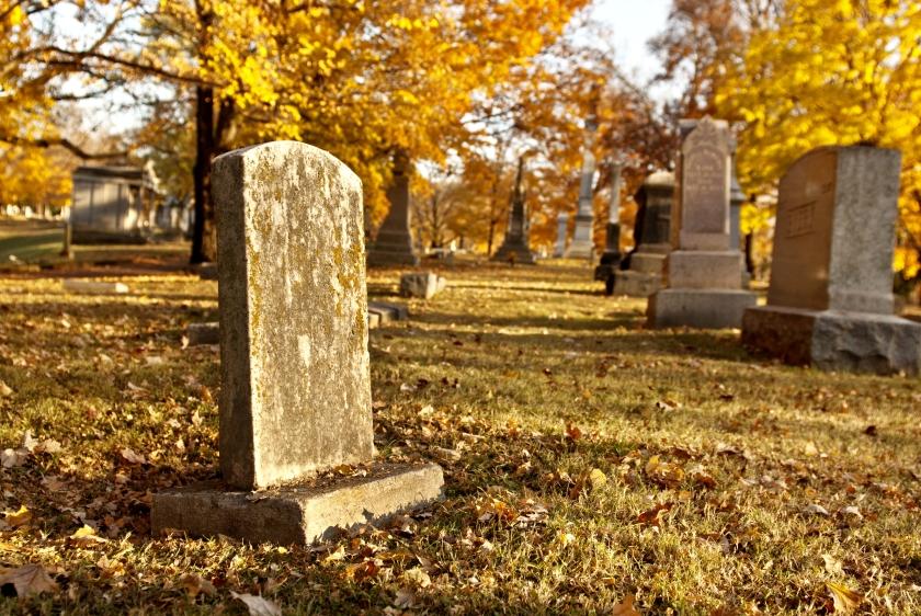 Graveyard in Fall