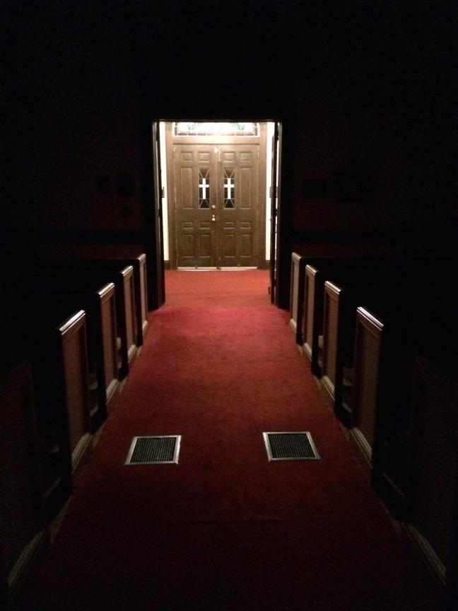 Darkened Church