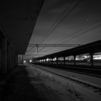 Abandoned Train Station in Winter