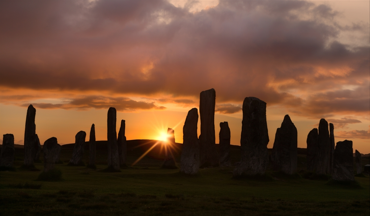 The Sun Sets on the Standing Stones