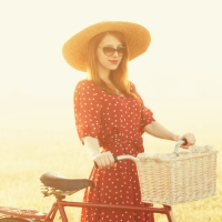 she rode her bicycle across...