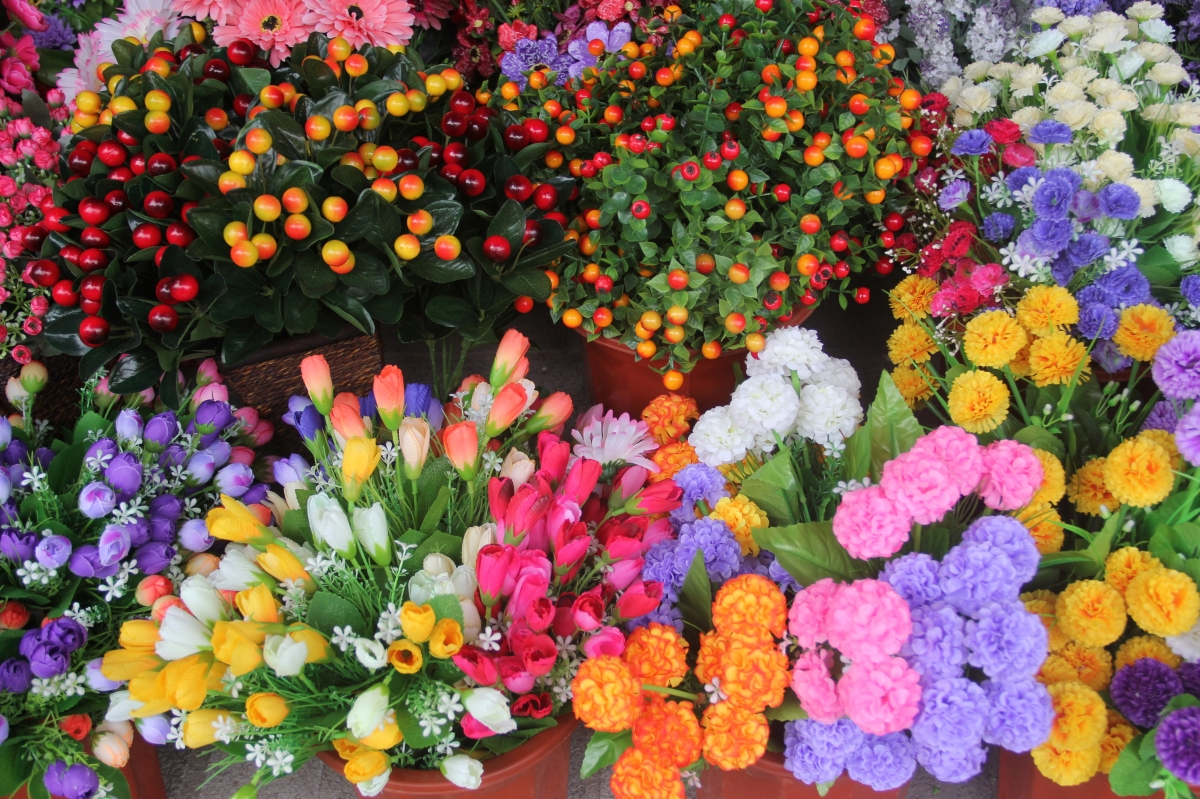 Flowers in a Shop