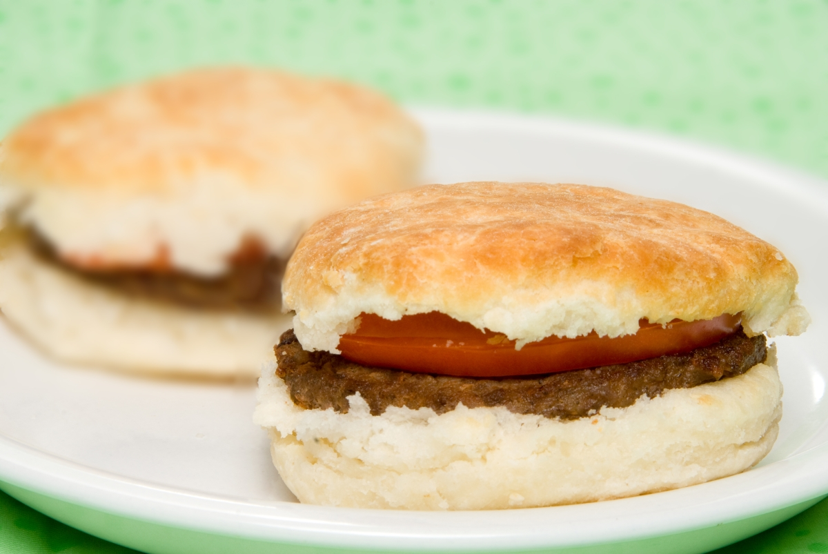 Sausage and Tomato Biscuits