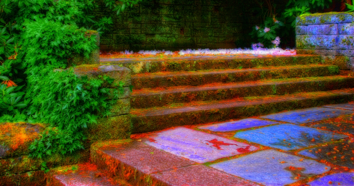 He held her near the ancientstair…