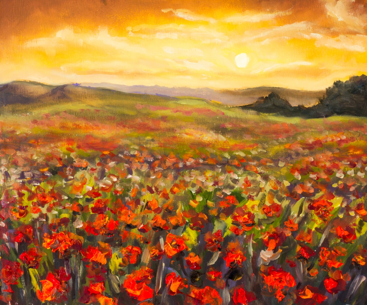 … fields full of flowers…