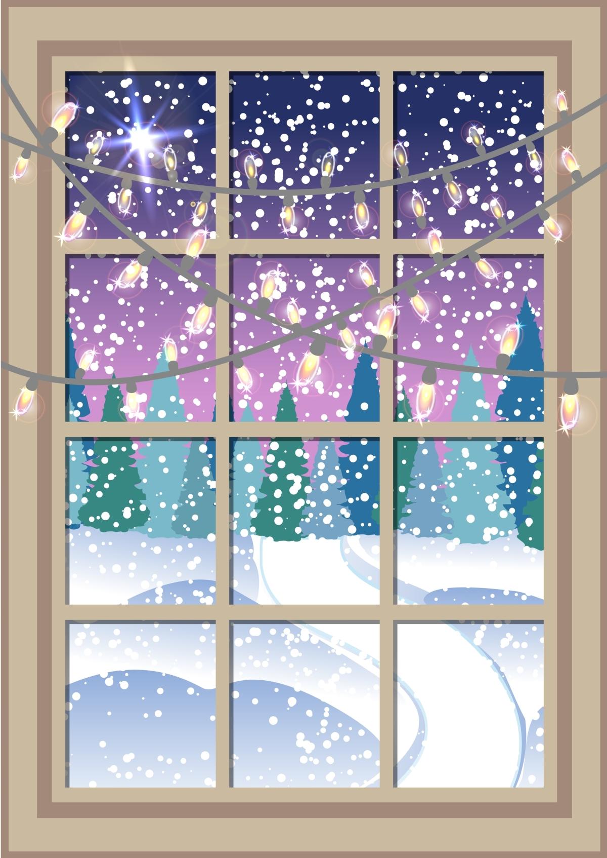 a winter window