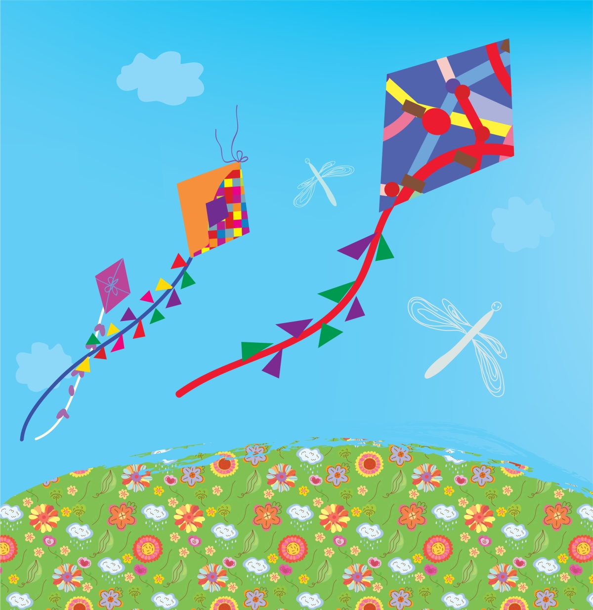 … kites across the sky